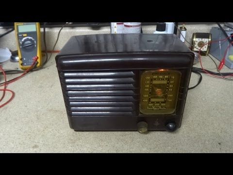 Repair Of A Hacked Up 1940 Emerson DB 301 AA5 Tube Radio