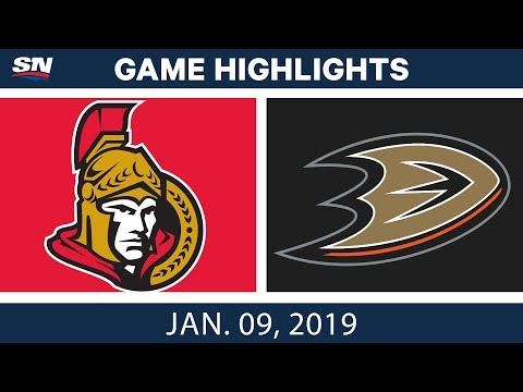 NHL Highlights | Senators vs. Ducks - Jan. 9, 2019
