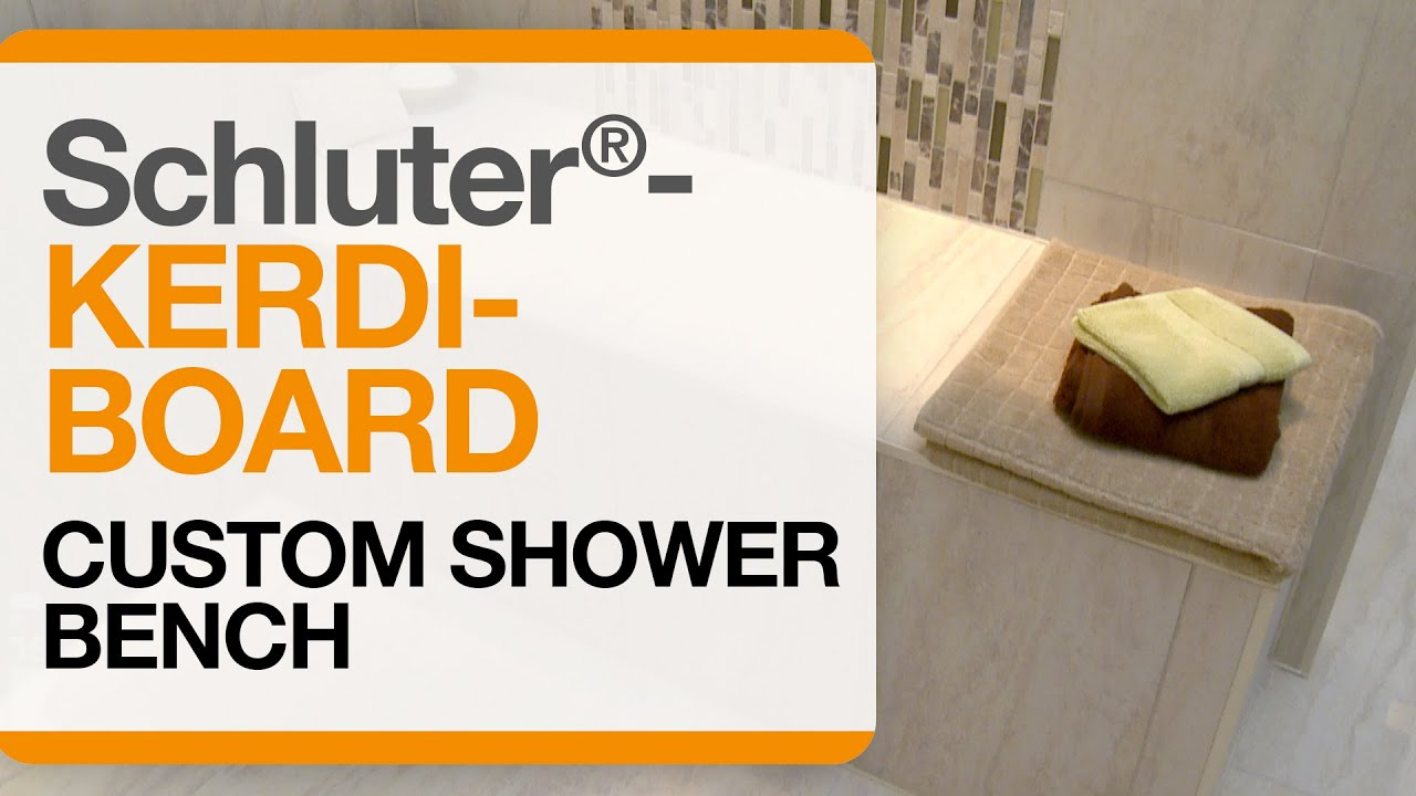 Elegant Schluter® KERDI BOARD Custom Shower Bench   YouTube