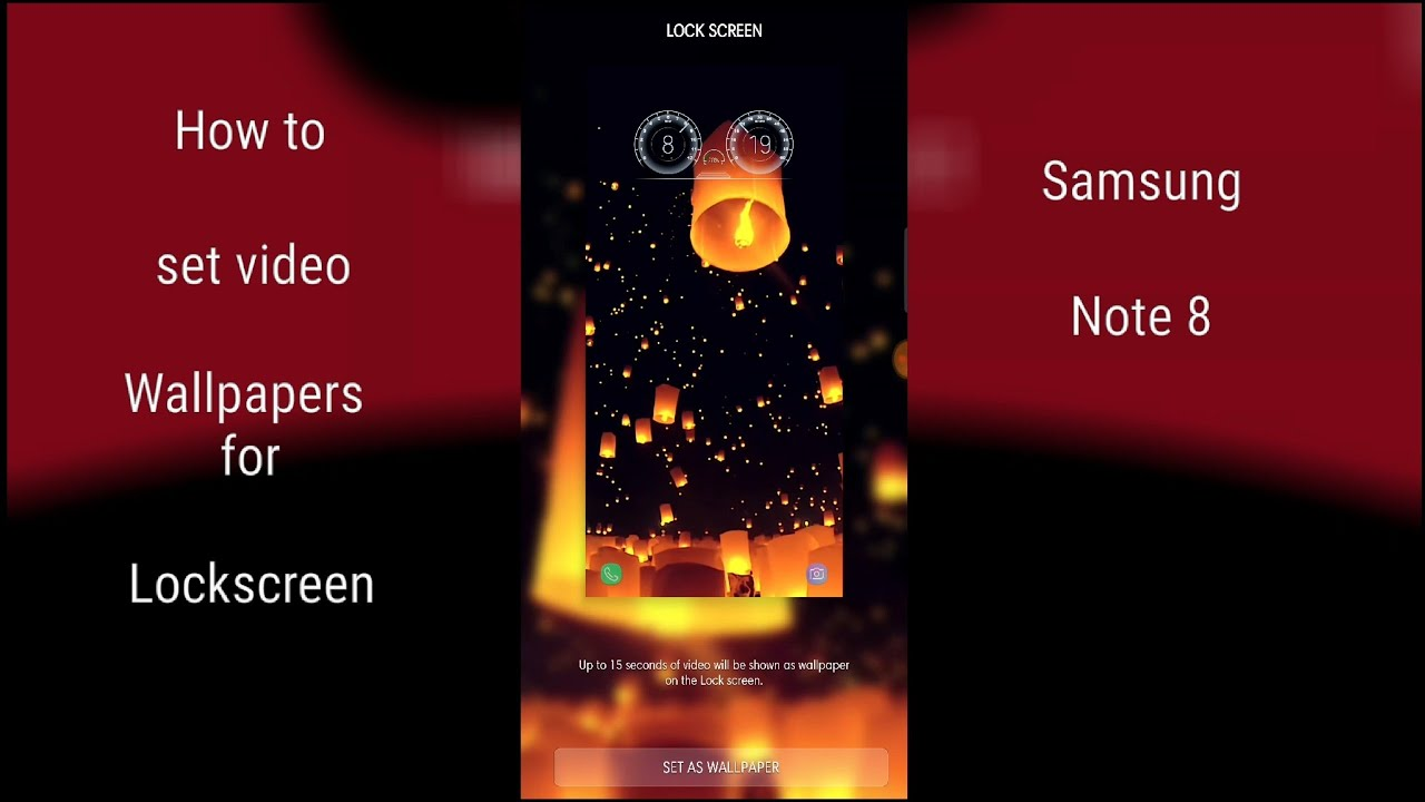 Video Lockscreen for Samsung Galaxy S8, S8+, Note 8| Official Update