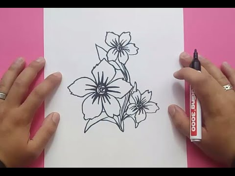 Como Dibujar Flores Paso A Paso 5 How To Draw Flowers 5 Youtube
