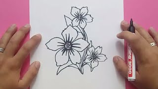 Como dibujar flores paso a paso 5 | How to draw flowers 5