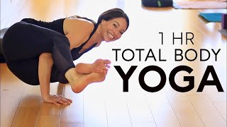1 Hour Total Body Yoga Workout For Flexibility And Strength