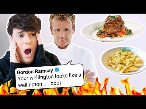 gordon ramsay roasted me SO I'M ROASTING HIS FOOD