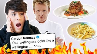 gordon ramsay roasted me SO I'M ROASTING HIS FOOD