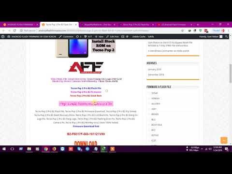 Tecno Pouvoir 2 Air LB6 Flash File  Android 8 1 Frp  Hang On