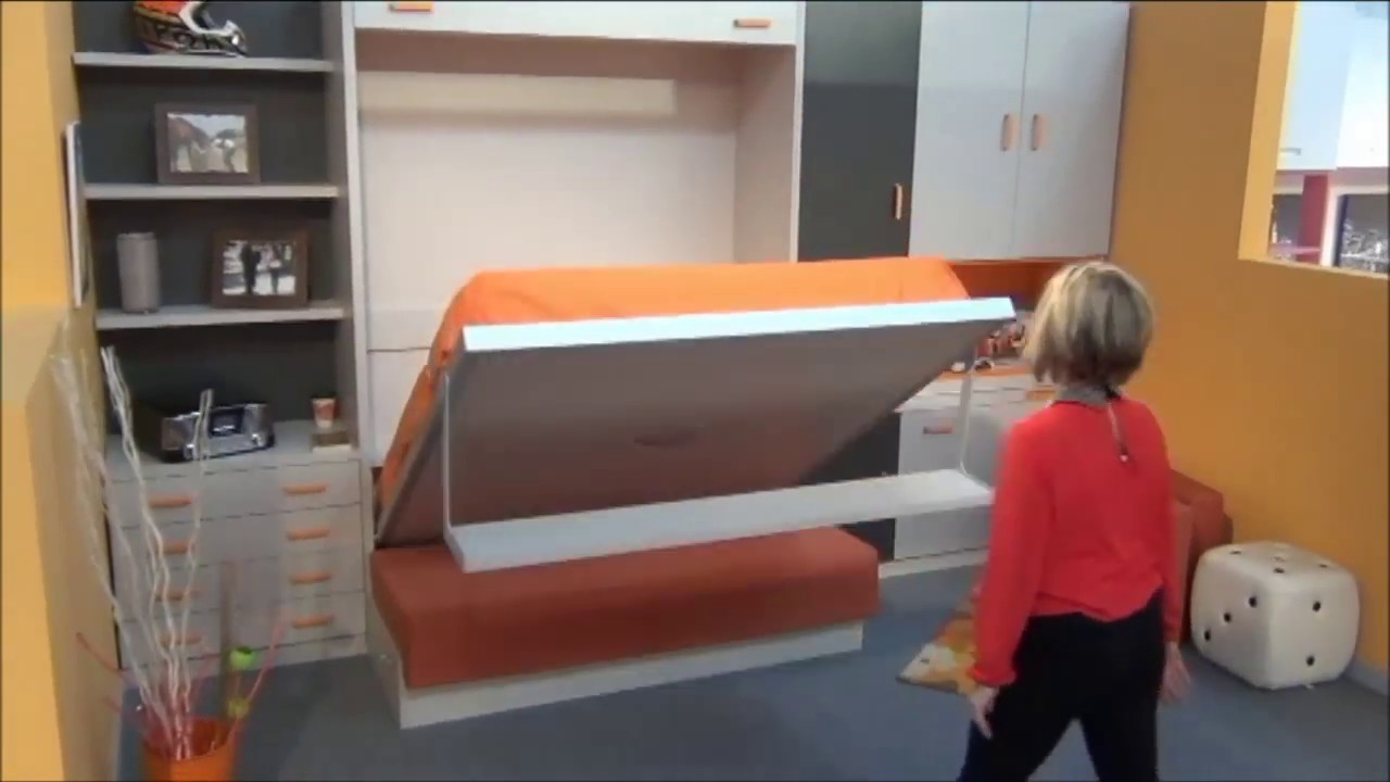 Ideas para decorar un dormitorio con sofa cama abatible for Sofa cama con almacenaje