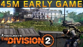 The Division 2 - 45 minutes of Early Game! PC Gameplay
