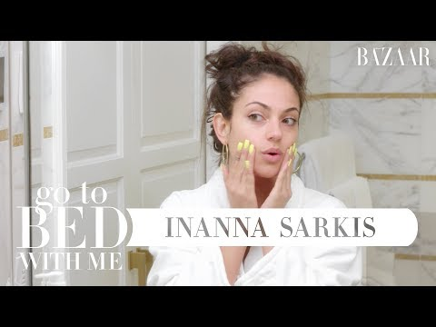 Inanna Sarkis' Nighttime Skincare Routine | Go To Bed With Me | Harper's BAZAAR
