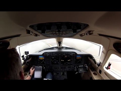 Low Visibility departure in a Private Jet- Multi-cam with ATC