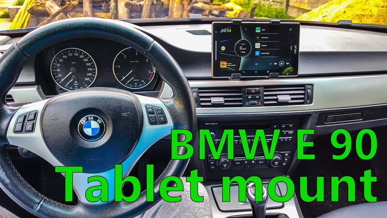 How I did the tablet mount for BMW E90  Cheap and easy!