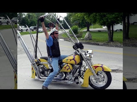 Cool Motorcycle With Extremely High Handlebars
