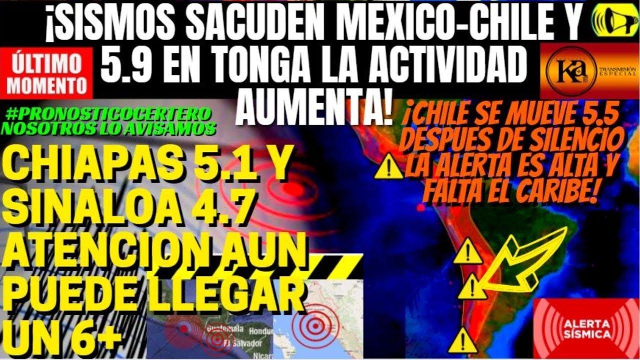 ¡🚨DE ULTIMO MOMENTO SISMOS EN CHILE Y MEXICO AUMENTAN COMO AVISAMOS!¡ALERTA POR TERREMOTOS 6+ A 7+!