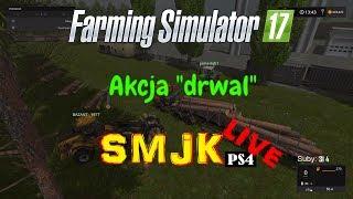 🔴 Praca w lesie czyli akcja DRWAL - Farming Simulator 17 PS4 PL LIVE #22