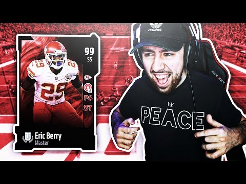 😍 99 ERIC BERRY WITH TWO CLUTCH INTS! Madden 18 Ultimate Team