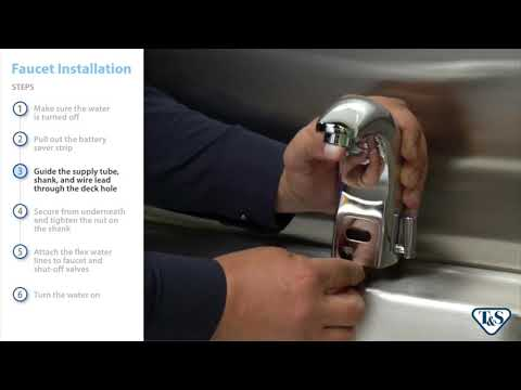 How To: Installing Above-Deck Sensor Faucets