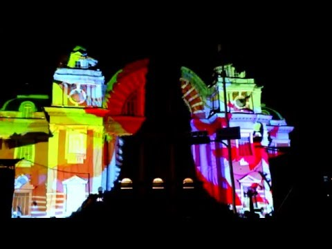 3D images projected on Osaka Public Hall