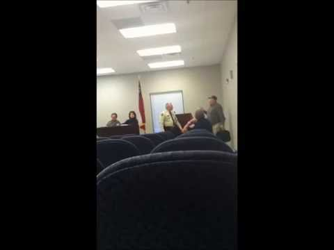 Citizen Removed from Podium @ Fannin County, GA Board of Commissioners Meeting
