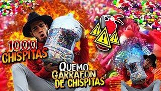 🔥 QUEMANDO 8,000 CHISPITAS EN UN GARRAFON 🔥