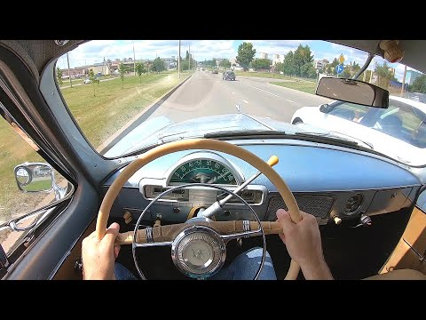 1960 ГАЗ-21 ВОЛГА POV TEST DRIVE