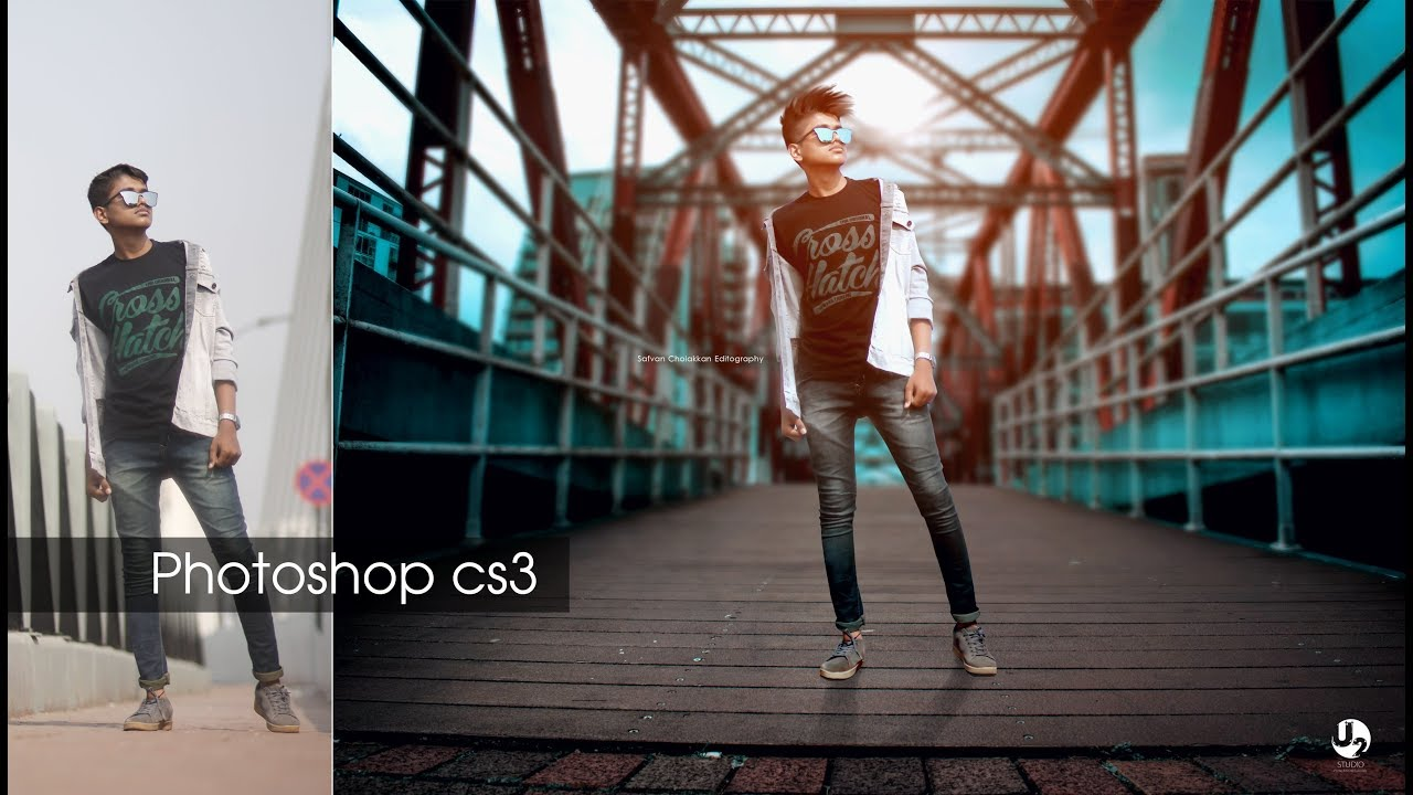 Adobe Photoshop 7 Cs3 Tutorial How To Change Background Youtube