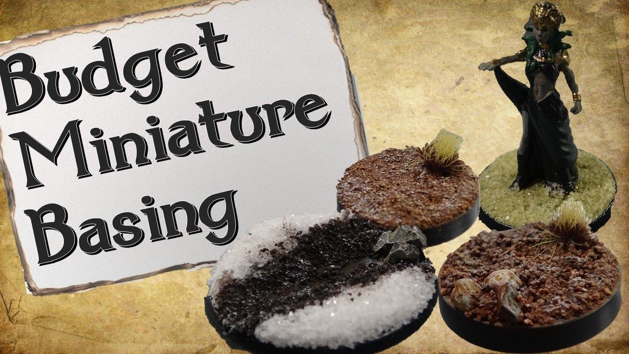 Budget Miniature Basing | Affordable Basing Materials
