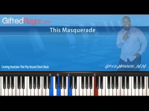 Easy Paino Songs Tutorial - This Masquerade