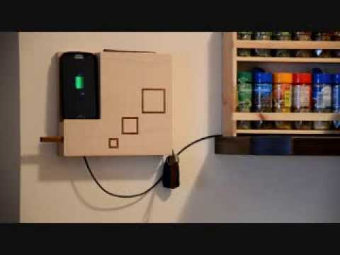 The Valet Wooden Wall Mounted Docking Station And