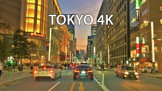 Tokyo 4K -  Beverly Hills of Japan - Driving Downtown - Ginza