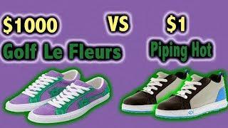$1000 Golf Le Fleur VS $1 PipingHot Roller Shoes
