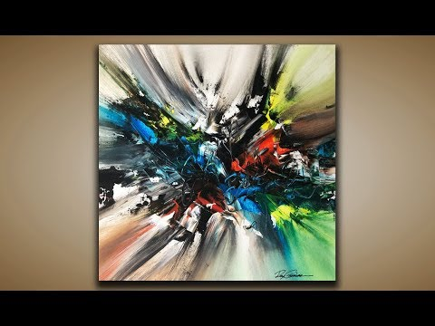 Abstract Painting / DEMO 91 / Abstract Art / Acrylic Painting / Palette Knife / Painting Techniques