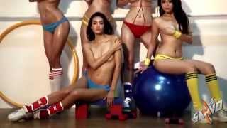 Repeat youtube video คลิปเบื้องหลัง ซาร่า นำทีม 5 สาวสุดเซ็กซี่ สลัดผ้าสุดหวิว ถ่ายปฎิทินซันโว 2015
