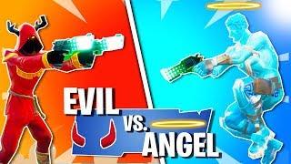 Teufel vs. Engel!   Fortnite Evil vs. Good Modus!