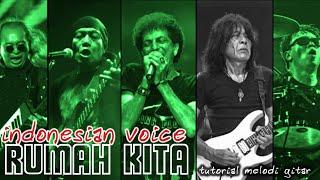 Indonesian Voices - Rumah Kita (guitar solo cover & tutorial)