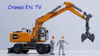 Conrad Liebherr A 920 Wheeled Excavator by Cranes Etc TV