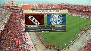 Fútbol en vivo. Independiente - Belgrano. Fecha 1. Primera División 2016. FPT