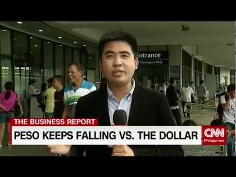 Peso keeps falling vs. the dollar