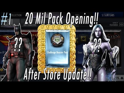 Buying 20 MILLION Credits/Coins NEW Challenge Packs Opening Injustice Flashpoint & Animated Batman??
