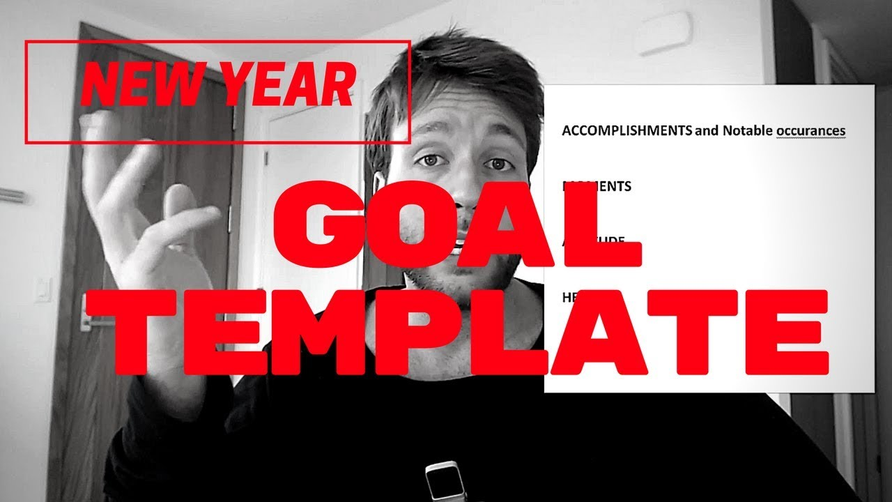 My simple but effective template for setting your new for New years goals template