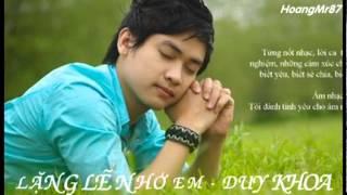 Lặng Lẽ Nhớ Em   Duy Khoa  Full Audio Lyric Album Hãy Yêu Anh Như Anh Đã Yêu Em    YouTube