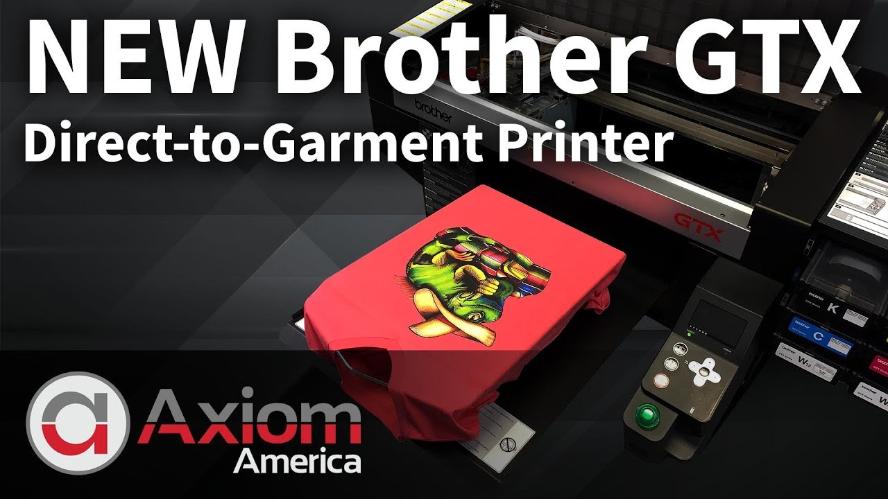 9990e1c62 Brother GTX Direct to Garment Printer - YouTube