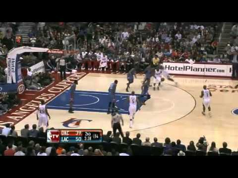 NBA Oklahoma City Thunder Vs LA Clippers Highlights Jan 30, 2012 Game Recap