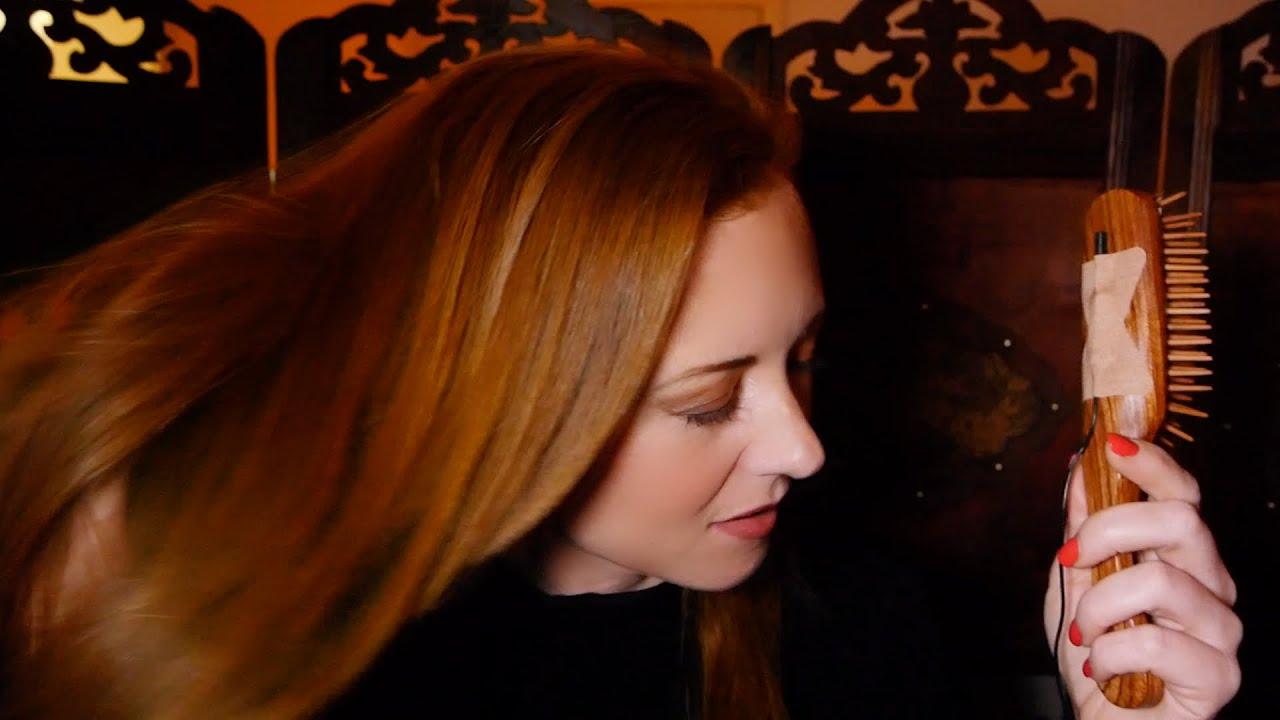 Mic ON The #5 Wooden Hairbrush | Relaxing Hair Brushing ...