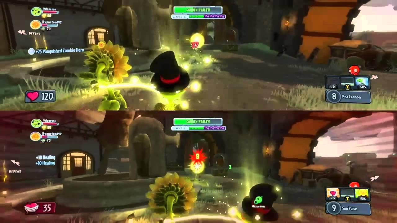 Plants Vs Zombies Garden Warfare Split Screen Action Youtube
