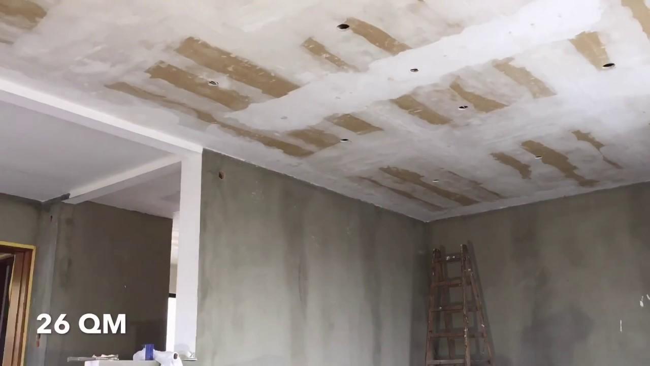 Decke Alleine Mit Malervlies Vlies Tapezieren Kleben Anbringen,  Wandbekleidung,DIY