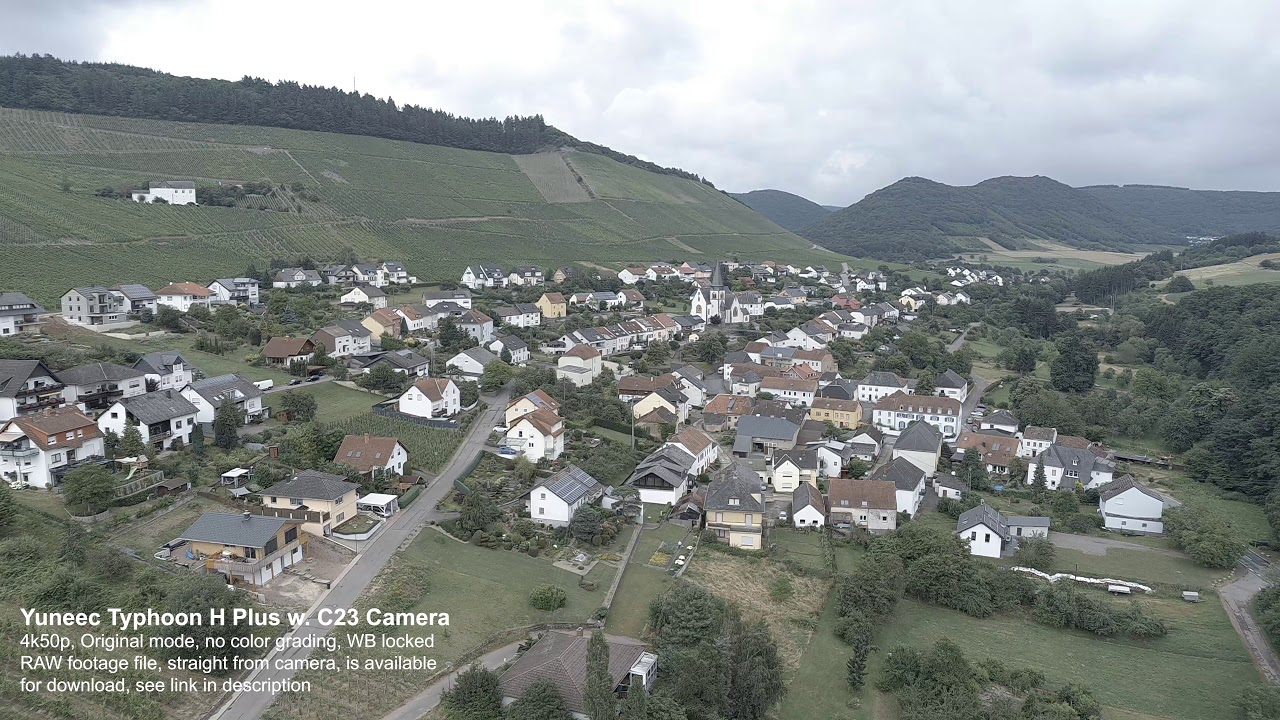 Yuneec C23 Cam on Typhoon H Plus - RAW Footage + Download Camera File
