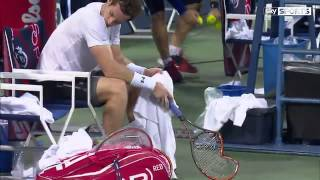 Murray smashes racket