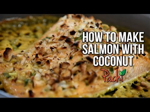 How to make delicious Quick SALMON with COCONUT GLAZE Fast in the oven FOR TASTY WEIGHTLOSS BY PACHI