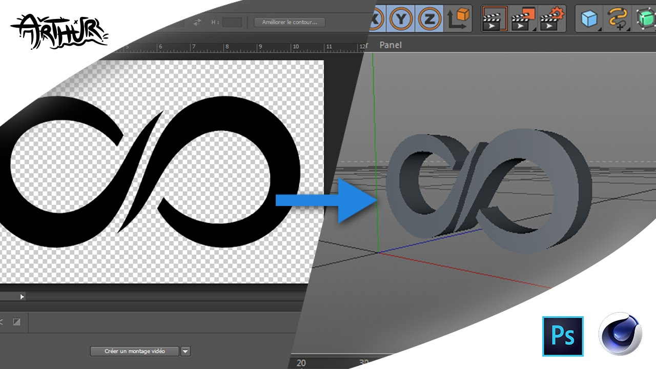 TUTO] Convertir un logo 2D en 3D - YouTube