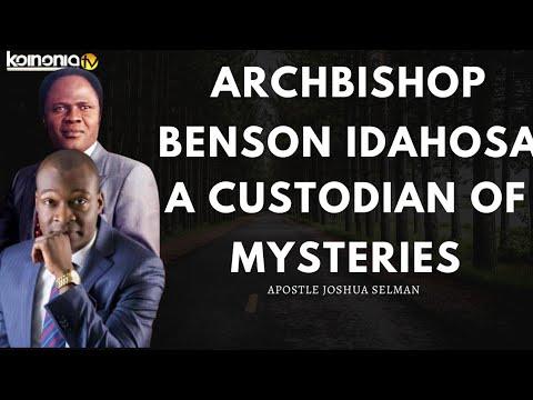 ARCHBISHOP BENSON IDAHOSA||WHY SHOULD HONOUR SERVANTS OF GOD - Apostle Joshua Selman
